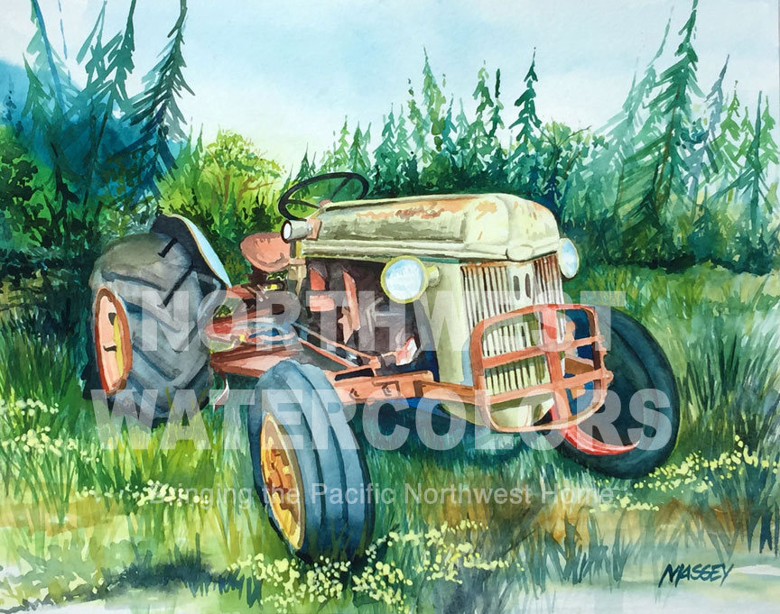 Northwest Watercolors - Antique Tractor